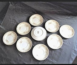 Noritake China Nana Rosa Pattern # 682 Tea Saucers AB 336-BVintage image 2