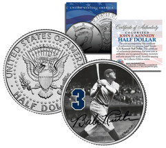 "Babe Ruth ""Hitting"" JFK Kennedy Half Dollar US Coin *Officially Licensed* - $8.86"