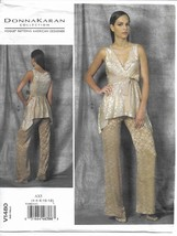 Vogue 1480 Donna Karan Cocktail Dressy Top & Pants Pattern Choose Size U... - $14.54