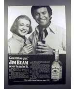 1972 Jim Beam Whiskey Ad - Bette Davis, Robert Wagner - $14.99