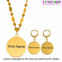 Anniyo Customize Name Pendant Beads Necklace Earrings Chuuk Marshall Set... - $29.20