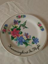 "Hummingbird In Flight by Ashton Hill Genuine Gold leaf Porcelain 7"" Plate image 1"