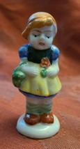 Vintage Porcelain Figurine - Girl with Basket  - Made in Occupied Japan 3""