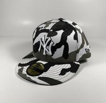 NEW ERA New York Yankees Gray Utility Camo 59Fifty Hat Sz 7 3/8 *NEW* RARE - $30.88
