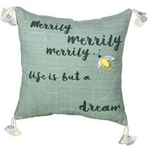 "PRINZ 18"" x 18"" Sentiment Pillow, 18 x 18, Merrily - $36.49"