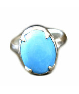 Natural Turquoise Silver Ring Prong Style 10 Carat Sizes K,L,M,N,O,P,Q,R... - $46.33
