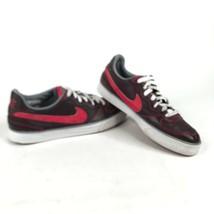 Nike Sweet Ace 83 Womens 9 Low Top Shoes Burgundy Scarlet Big Swoosh 407... - $18.70