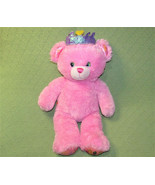"16"" BUILD A BEAR DISNEY PRINCESS TEDDY BEAR PINK STUFFED ANIMAL PURPLE C... - $18.22"