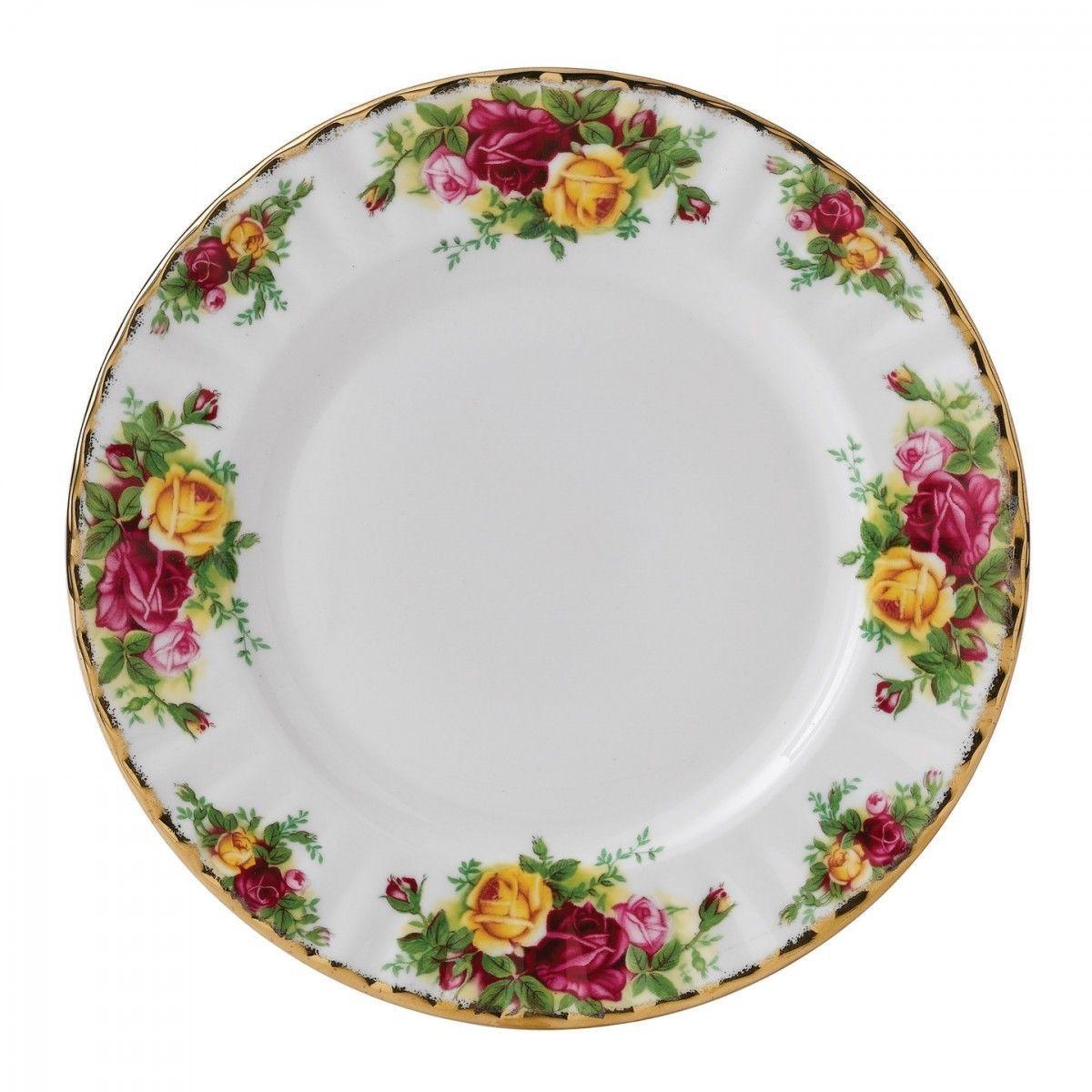 Royal Albert Country Roses Salad Plates (Set of 4)