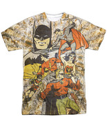 Authentic DC Comics Original All Star Heroes Vintage Sublimation Front T-shirt - $26.99 - $31.99