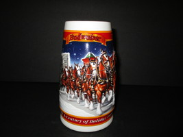 """1999 Budweiser Holiday Stein - """"A Century of Tradition""""  - $17.00"""