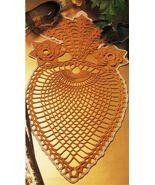 "Giant Pineapple 17"" x 9""  Advanced Amusement Table Center Crochet DOILY ... - $6.99"