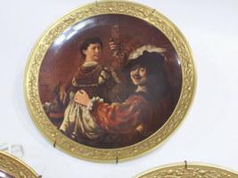 Rembrandt Self Portrait with Saskia C.1635 Gorham Gallery Plate-11 y151 - $45.00