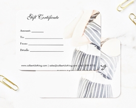 $25 Gift Certificate for Colbert Clothing, Gift Ideas for Her, One Size Fits All