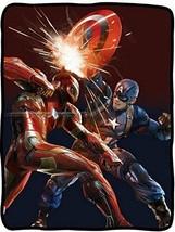 Captain America: Civil War Ironman Fleece throw Blanket - $23.72