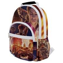 Rounded Multi Pocket Backpack kids school bag aladdin tiger jasmine romance lamp - $53.00