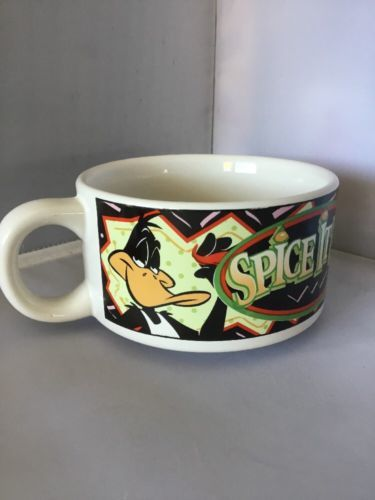 Looney Tunes Bugs Bunny Daffy Duck Spice It Up! Soup Salsa Chili Cereal Bowl M