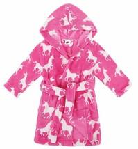 Verabella Boys Girls' Plush Super Soft Fleece Printed Hooded Bathrobes Robe - $29.91+