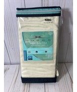 New SHEEX Arctic Aire max performance fabric King Pillow Case pair Ivory, - $27.72