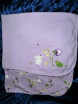 Gymboree Pretty Pansy Purple Flowers Bunny Turtle Blanket Vgc 2013 - $38.79