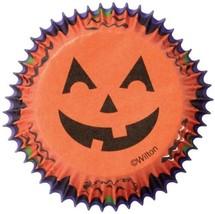 Jack O'Lantern Halloween 75 Ct Baking Cups Cupcake Liners Wilton - $2.13