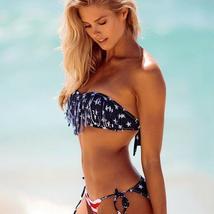 Women's American Flag Fringed Bikini Swimsuits image 1