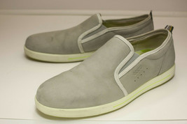 ECCO Size 11 to 11.5 Light Gray Slip On Loafers Casual Men's EUR 45 - $44.00