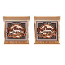 Ernie Ball Guitar Strings 2-Pack Acoustic Earthwood Phos Bronze Xtra Lig... - $18.12