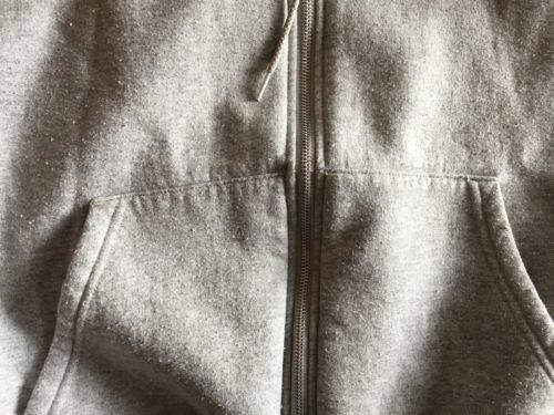 Hooded Hoodie Sweatshirt  by Champion 50/50 Blend Size Small Light Grey Blank