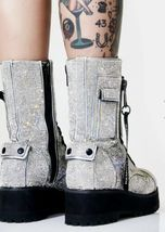 NEW In BOX Billionaire Bling Boot Club Exx Size 7 WOW! SHIIINYYY image 7