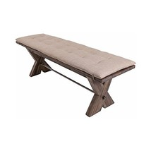 NCF Tivoli Country Rustic Acacia Bench with Cushion in Vintage Weathered... - €370,51 EUR