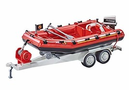 PLAYMOBIL Add-On Firefighting Inflatable Boat Building Set 9845 - $39.99