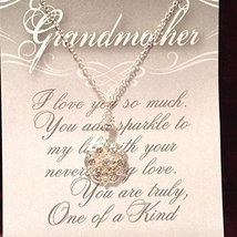 Grandmother Crystal Snowflake Necklace with Gift Card