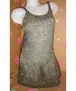 Victoria's Secret Green Cheetah Leopard Print Sheer Babydoll M - $14.99