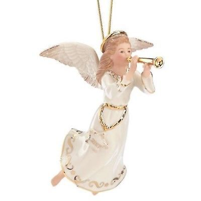 Lenox 2017 Angel Ornament Figurine Annual Melody Horn Trumpet Christmas Gift NEW