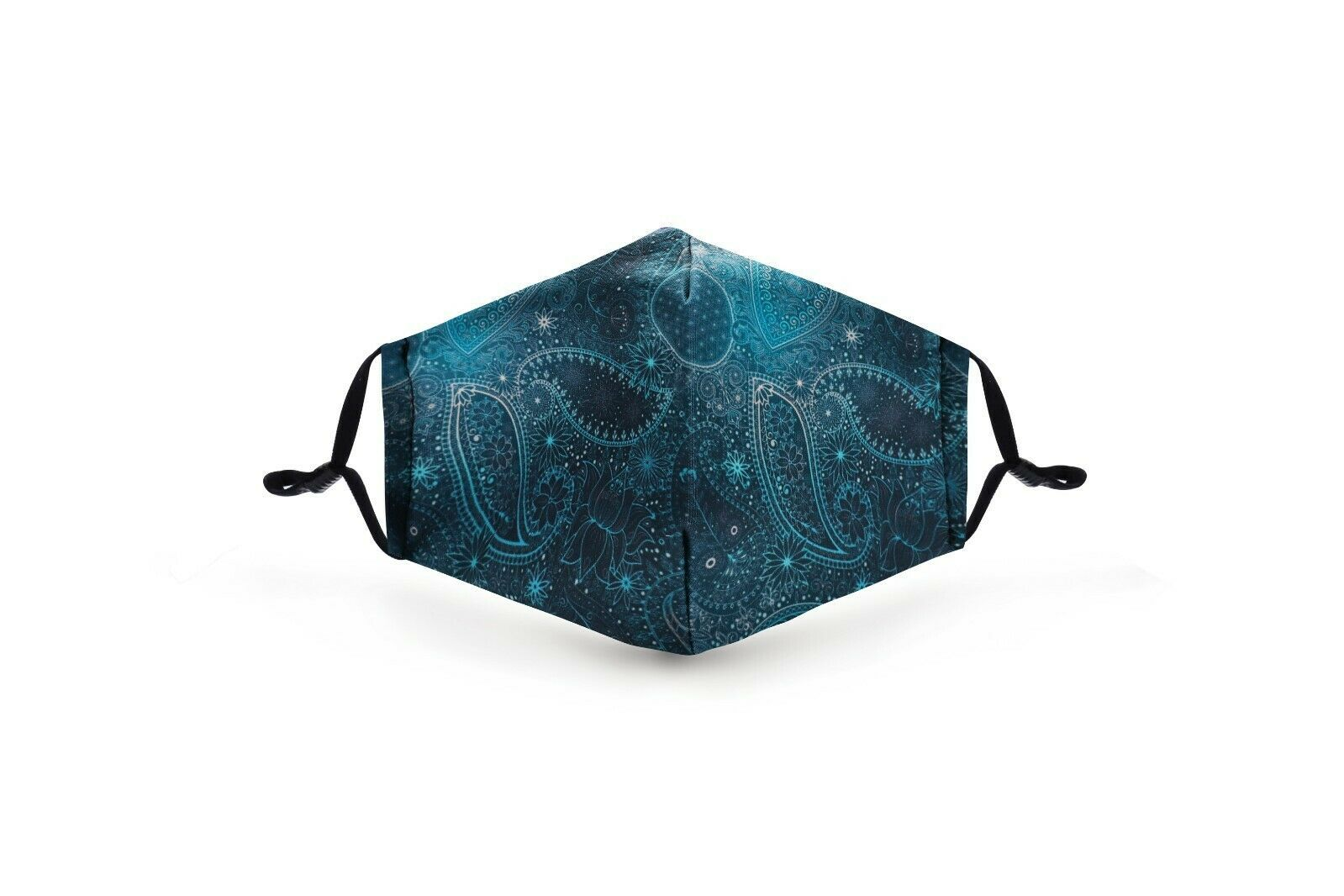 Primary image for Blue Paisley Pattern Face Mask Washable Reusable POLYESTER/COTTON +2 filter