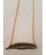 Harry Potter Wingardium Leviosa Feather Necklace Goldtone - $1.97