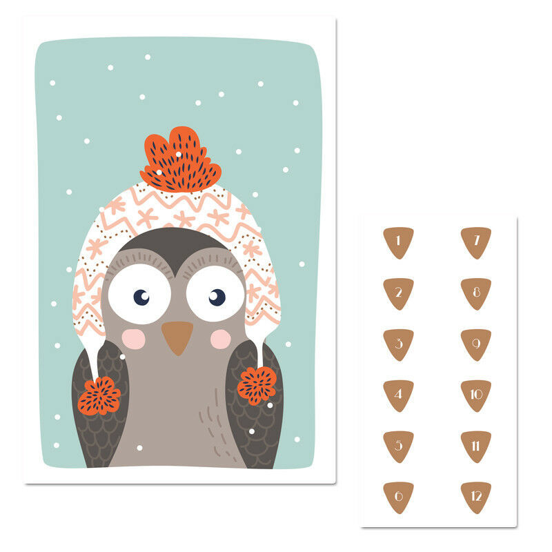 Winter Owl Pin The Nose Christmas Party Game