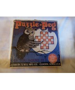 1929 Puzzle-Peg The Great Solitaire Game with Box & Paperwork Lubbers & ... - $15.00