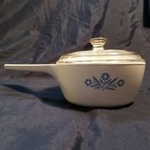 Vintage Corning Ware Blue Cornflower P-82 1 1/2 QT Pan With Pyrex Lid P-... - $17.99
