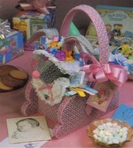 Plastic Canvas Easter Egg Bunny Butterfly Iris Step Daffodil Baskets Pattern - $12.99