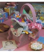 Plastic Canvas Easter Egg Bunny Butterfly Iris Step Daffodil Baskets Pat... - $12.99