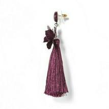 SUGARFIX by BaubleBar Lilac Tassel Drop Earrings with Crystal Flowers image 2