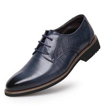 Shoes Lace Bus 100 High Oxford Leather Up Men For Genuine Shoes Dress Quality 7n0Fgv