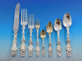Lily by Whiting Sterling Silver Flatware Set for 8 Dinner Service 72 Pcs - $8,650.00