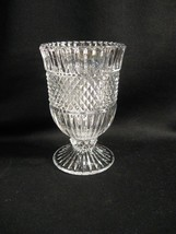 BEAUTIFUL CRYSTAL CLEAR GLASS FOOTED SPOONER - $19.30