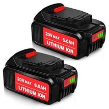 2Pack Dcb205 6000Mah Replacement For Dewalt 20V Max Xr 20V Battery 6.0 - $106.99