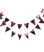 3M Long Silver/Gold/Rose Gold Foil Triangle Metallic Pennants Banner Par... - $18.62+