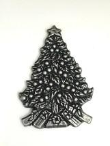 Vintage 1993 Carson Pewter Christmas Tree Ornament Silver Tone Metal Orn... - $9.85