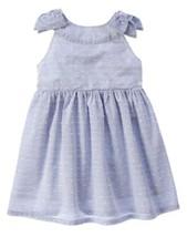 Gymboree 5T Star Spangled Summer Swiss Dot Stripe Dress NWT July 4th Pat... - $13.09